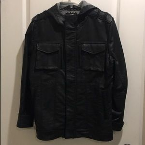Vans Leather Hooded Jacket